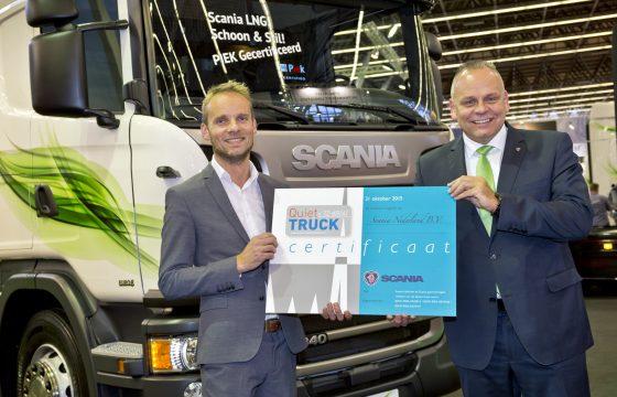 Scania's krijgen Piek Quiet Truck-certificaat
