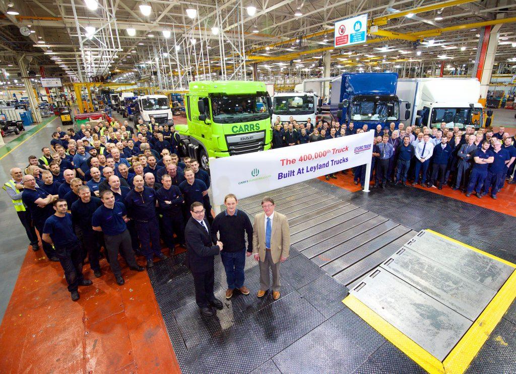 Nummer 400.000 voor Leyland Trucks