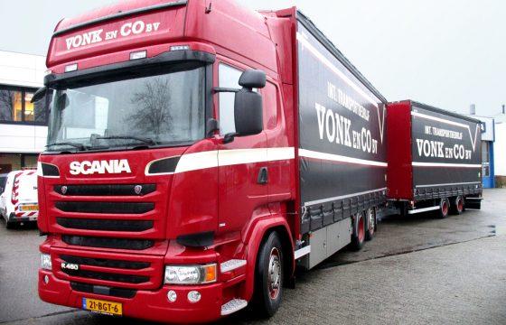 Scania R450 combi voor Vonk en Co
