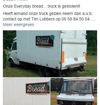 Diefstal vrachtwagen bakkerij Zwolle