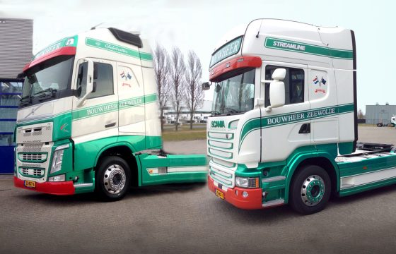 Scania R410 en Volvo FH 420 Bouwheer