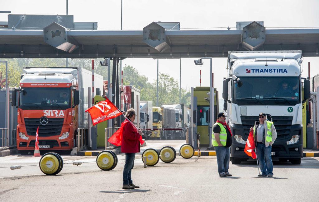 Nieuwe wegblokkades in Frankrijk