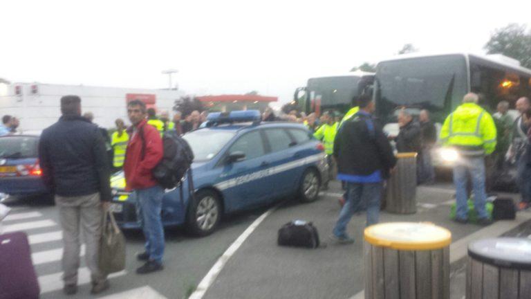 Geëvacueerd van Franse autoroute