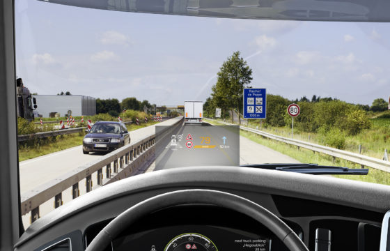 Head-up display in opmars