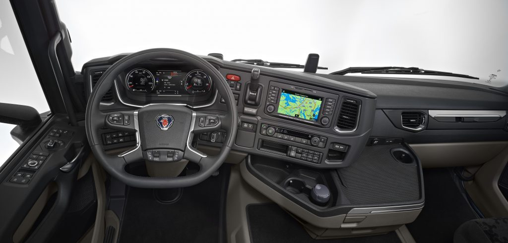 cab interior steering wheel and dashboard cr20 highline sdertlje sweden photo gran interieur nieuwe scania
