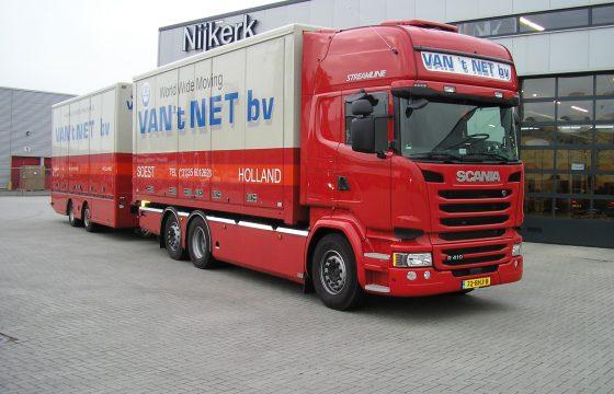 Van 't Net verhuizingen kiest voor Scania R410
