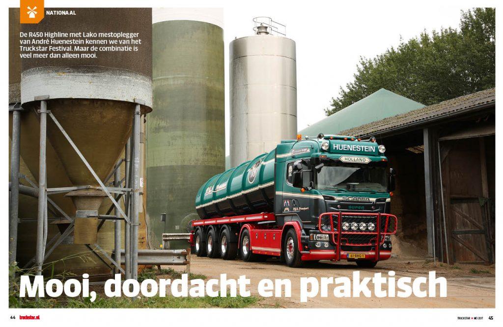 Huenestein in de stront met Scania R450