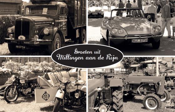 Klassieke trucks in Millingen aan de Rijn