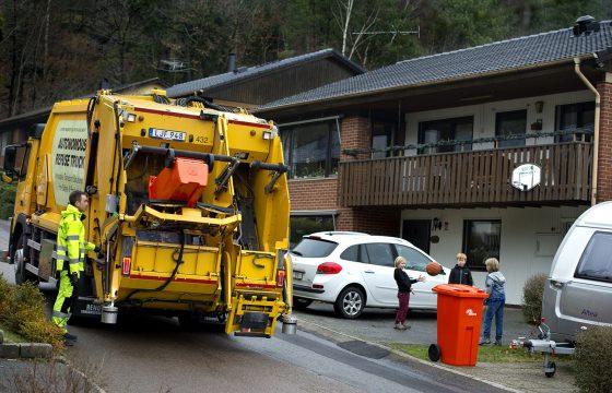 Zelfrijdende Volvo-vuilniswagen Renova