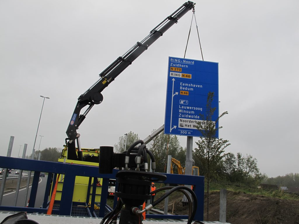 Kantje boord, maar het laatste verkeersbord op oostelijke ring Groningen staat