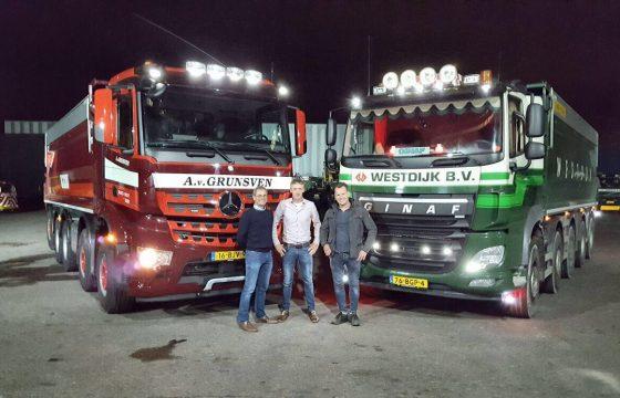 Meer volume voor Van Grunsven Transport na overname kipper-transport Westdijk
