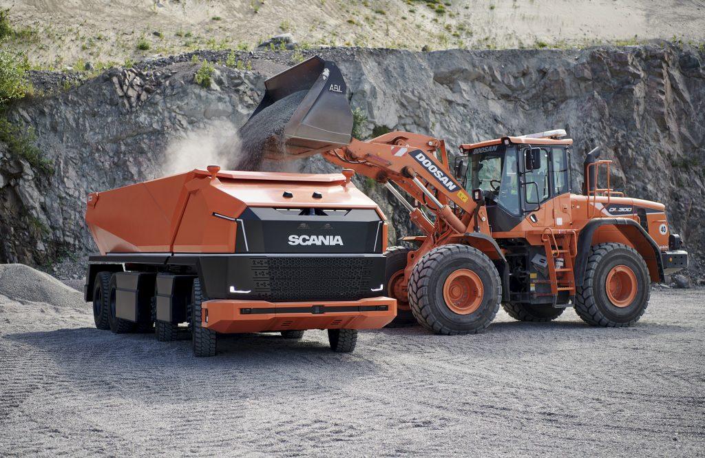 Scania AXL met shovel