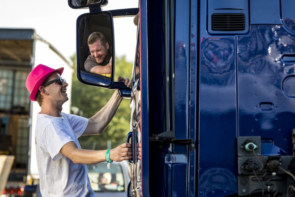 Truckstar Festival - binnenrijden