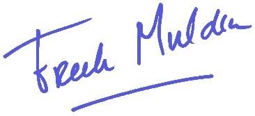 Handtekening Freek Mulder
