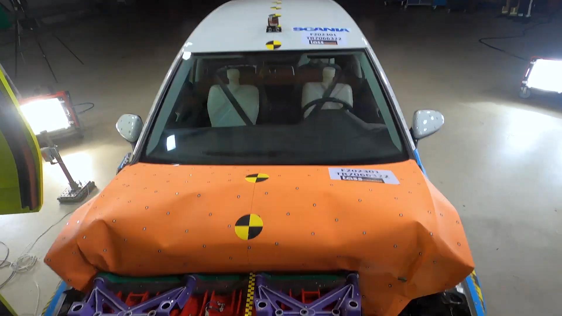 crashtest elektrische truck